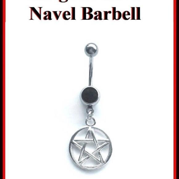 Supernatural Pentagram Charm 14g Belly Ring